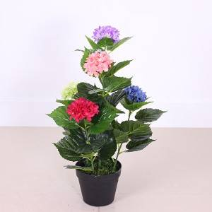 Home decoration mini artificial flower bonsai many colors
