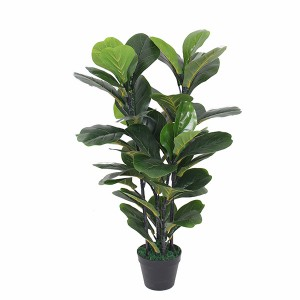 Factory supply OEM quality striking make artificial fiddle fig plant