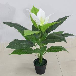 2020 Yiwu China cheap hot sale artificial anthuirum plants tree for decoration