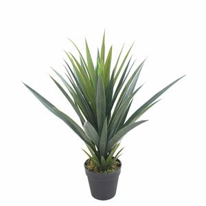 Factory price high quality 3 branches yucca potted decorative plastic tree artificial plant tree