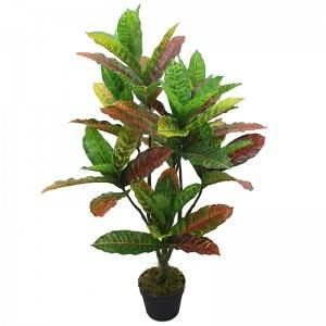 Artificial potted plants  bosai artificial codiaeum