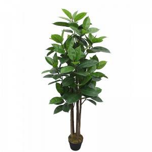 New style artificial rubber tree   real touch leaves for decor