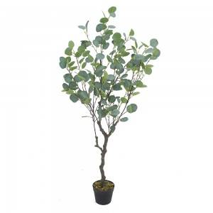 Artificial eucalyptus tree artificial bonsai plant