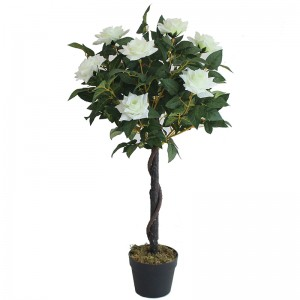 3Ft artificial rose plants flower bonsai tree