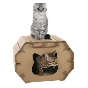 China wholesale Outdoor Cat House - cardboard cat house CT-14 – Jie Feng