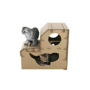 OEM Manufacturer Warm Outdoor Cat House - cardboard cat house CT-13 – Jie Feng