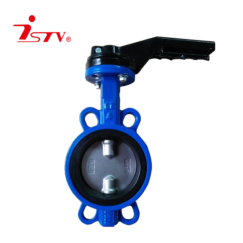 Wafer center lined-type butterfly valve