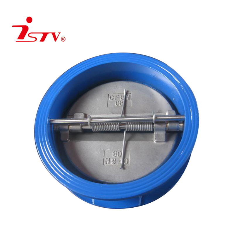 Wafer butterfly type check valve