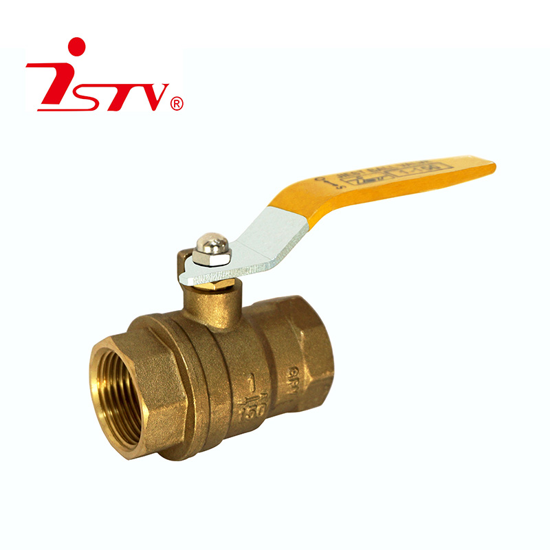 Two-pieces brass ball valve