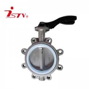 Center lined lug type butterfly Valve