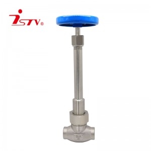 Long stem cryogenic globe valve