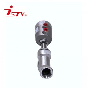 Pneumatic Y-shaped angle seat valve