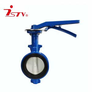 Center lined type rubber lining butterfly valve