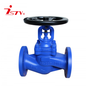 DIN3202 cast iron bellow seal globe valve