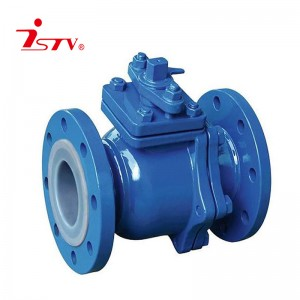 PTFE lined flanged ball valve
