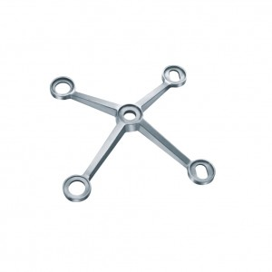 Four arm stainless steel wall spider 304/316