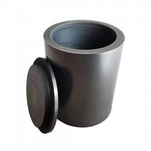 Factory Promotional Graphite Paper/Foil/Sheet - Graphite crucible with thread lid – Jinglong