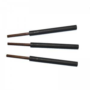 Graphite rod with copper rod