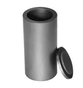 High purity slender graphite crucible