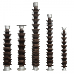 11kV-1100kV station porcelain post insulator conforming to standards of IEC and ANSI.