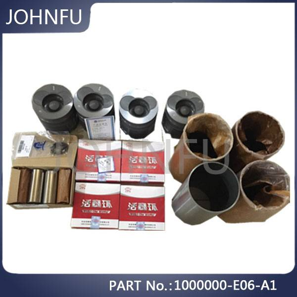 Original 1000000-E06 Great Wall Spare Parts Four Supporting Kit, Engine Gw2.8tc Piston Kit