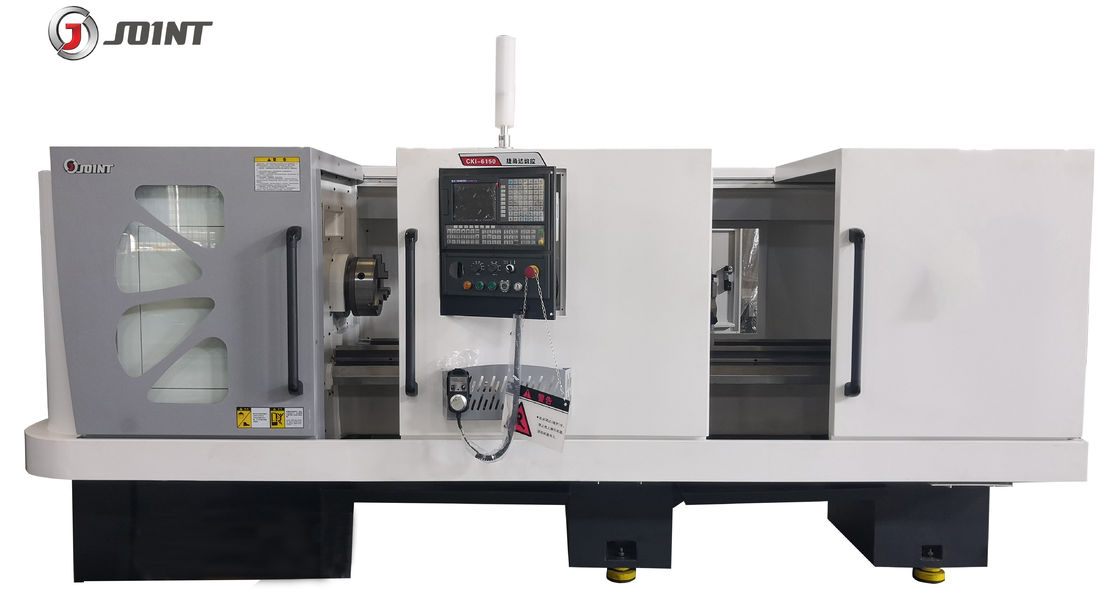 D8/250 Spindle Taper Horizontal CNC Lathe Machine 3 Grades Gear Speed Design