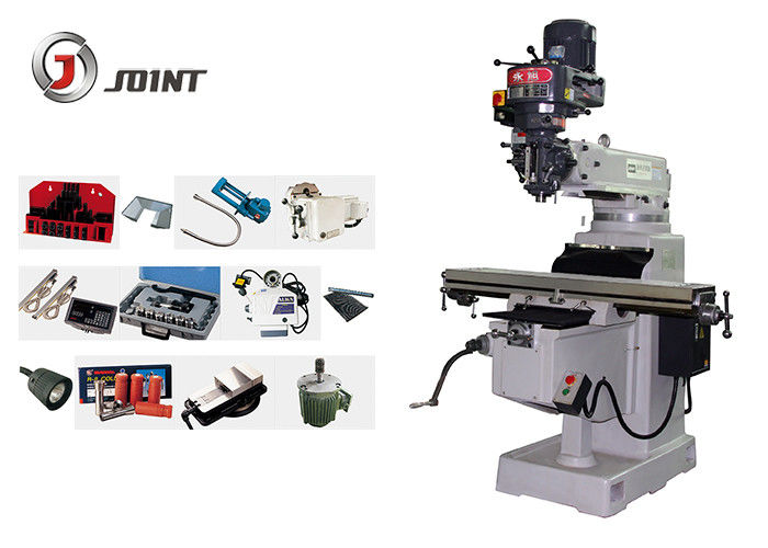 Mould Processing Turret Milling Machine , 900 * 400 * 380mm Vertical Turret Mill