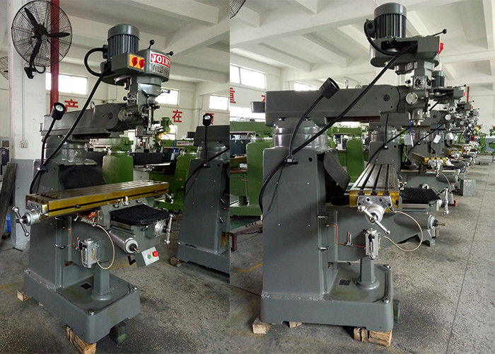 NT30 Spindle Universal Turret Milling Machine For Mould / Slot Processing