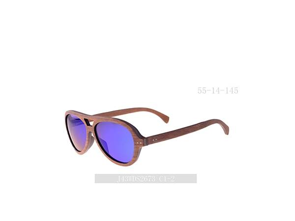 Joysee 2021 J43WDS2673 colorful sun lenses wooden sunglasses high quality