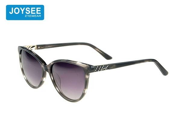 Joysee 2021 handmade acetate large frame fiber with Diamond Fashion Sunglasses high end glasses