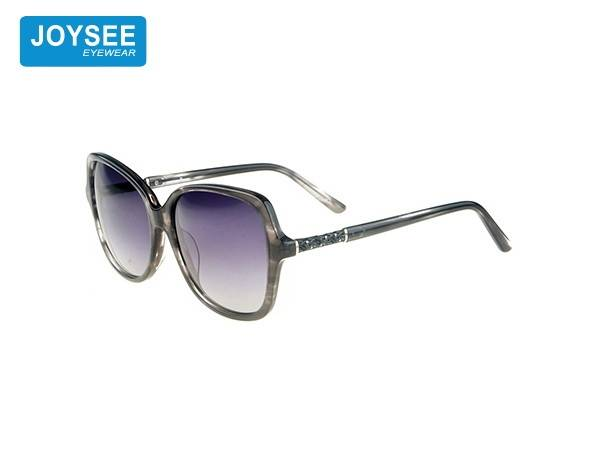 Joysee 2021 handmade acetate large frame fiber with Diamond Fashion Sunglasses high end women's glasses