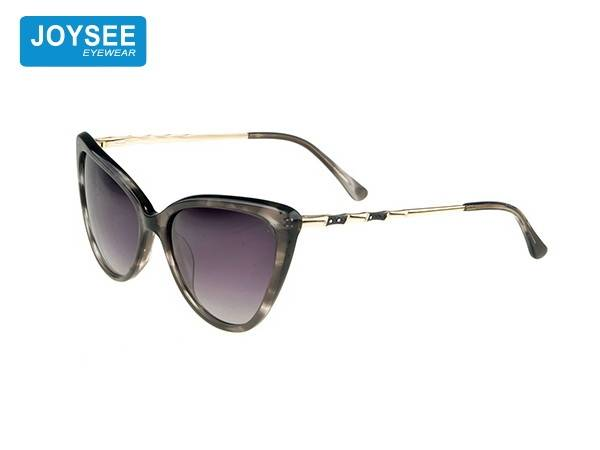 Leading Manufacturer for Black Sunglasses - Joysee 2021 handmade acetate fiber frame metal belt drill leg fashion sunglasses cat eye glasses – Joysee