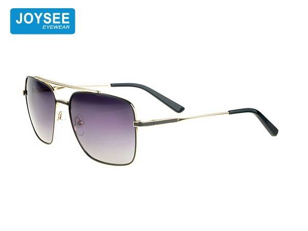 2021 Joysee metal fashion glasses double bridge Sunglasses high quality retro style