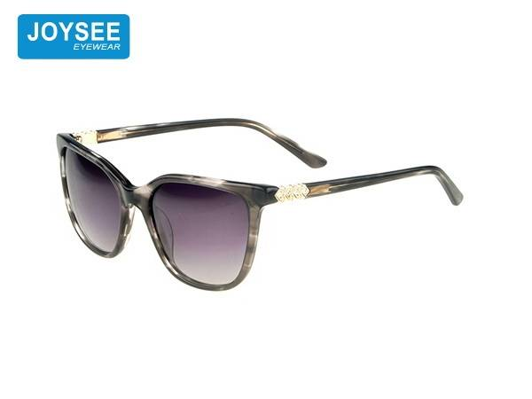 Joysee 2021 handmade acetate frame metal strap drill leg fashionable sunglasses high quality glasses