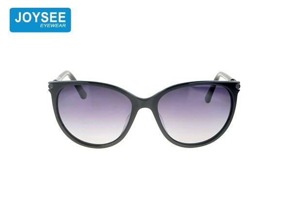 Joysee 2021 handmade acetate large frame fiber metal round leg with Diamond Fashion Sunglasses high end glasses