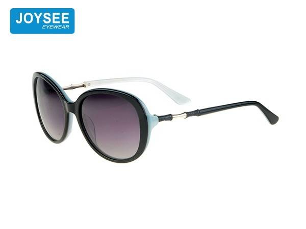 Joysee 2021 handmade acetate round frame metal leg fashionable sunglasses high end women's glasses