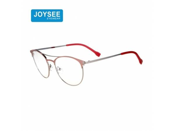 Joysee 2021 9512 Joysee New Collection Double Bridge Round Metal Frames Manufacturer Made In China