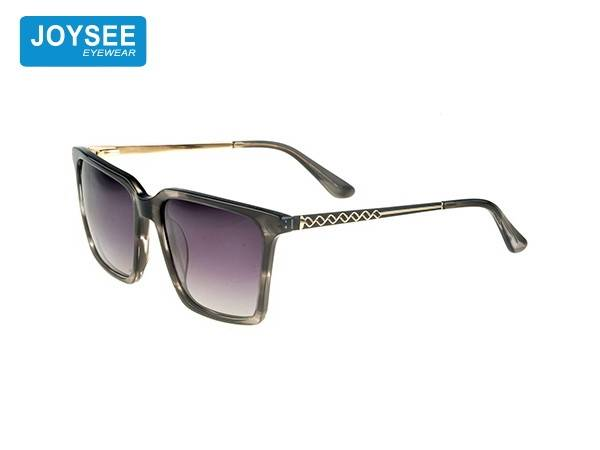 Joysee 2021 handmade acetate large frame metal leg fashionable sunglasses high quality glasses