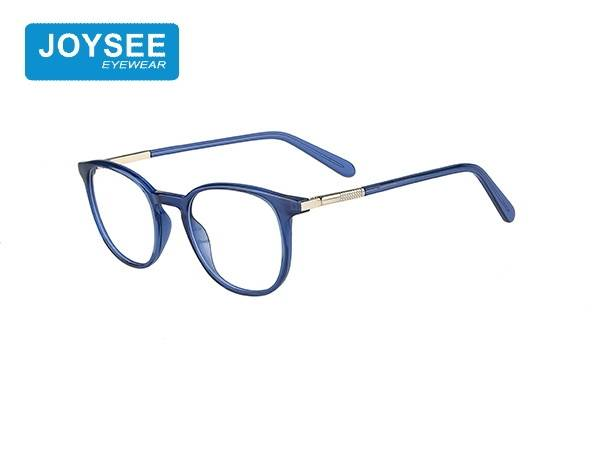 Joysee 2021 J51EP19022 The latest hand-made fashion round frame frames, with exquisite metal temple glasses
