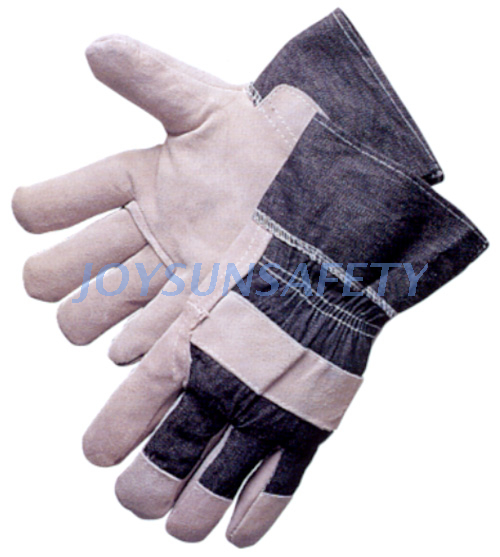 Trending Products Goatskin Driving Gloves - CBA309 economic leather palm work gloves – Joysun