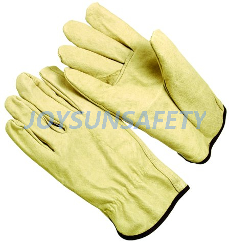 Ordinary Discount Anti Acid Gloves - DPAS pigskin leather driver gloves – Joysun