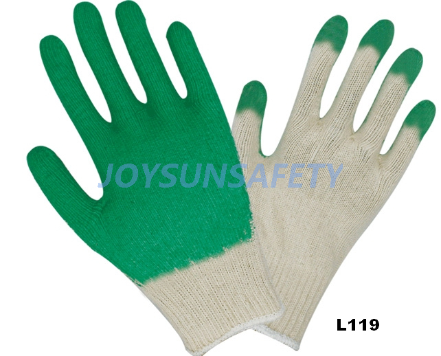 L119 latex coated gloves T/C liner