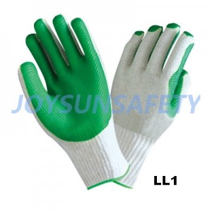 LL1 latex laminated gloves T/C liner