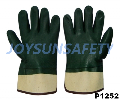 P1252 PVC coated gloves sandy finished