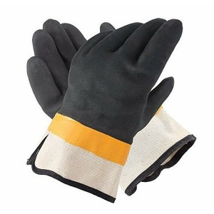 Double-Dipped PVC Jersey Lined Sandpaper Finish Men's Gloves