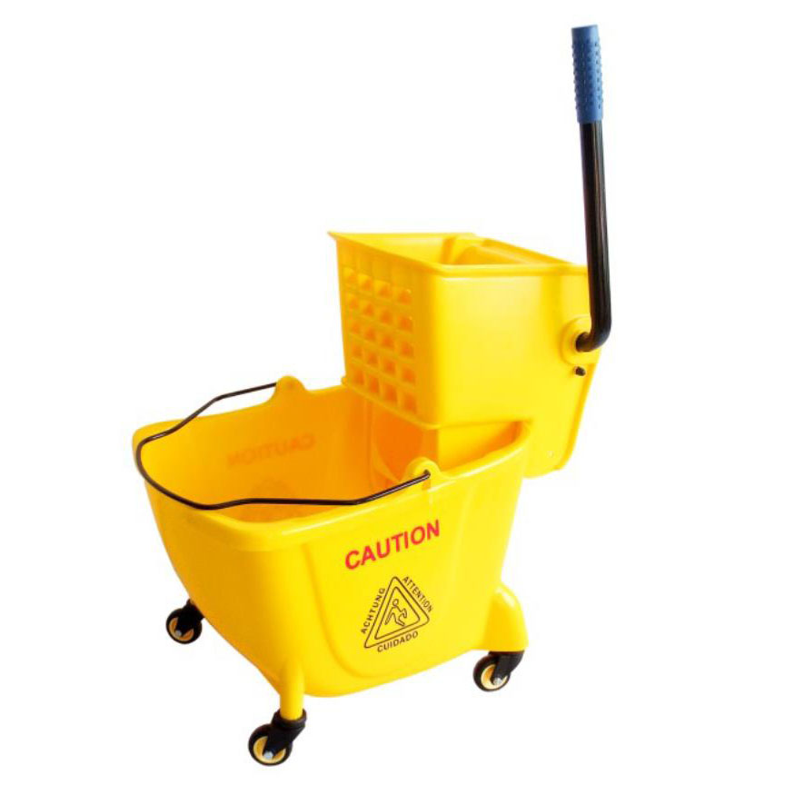 Hot sale Garbage Can Rolling Cart - 24L/32L  Side press single wringer trolley –H0101/H0102 – Jinqiu