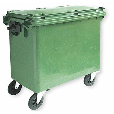 Factory Cheap Hot Janitor Cart Trolley - 660L  Outdoor Garbage Cart-B109 – Jinqiu