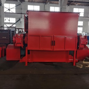 Heavy duty swing arm shredder