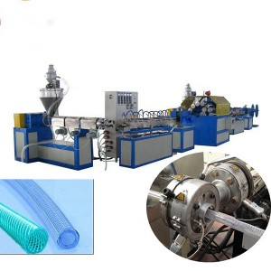 Discount Price Rubber Tire Cutting Machine - PVC Braided Hose Extrusion Line – Jiarui