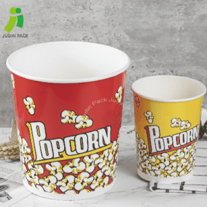 Disposable Custom Printed Paper Popcorn Cup